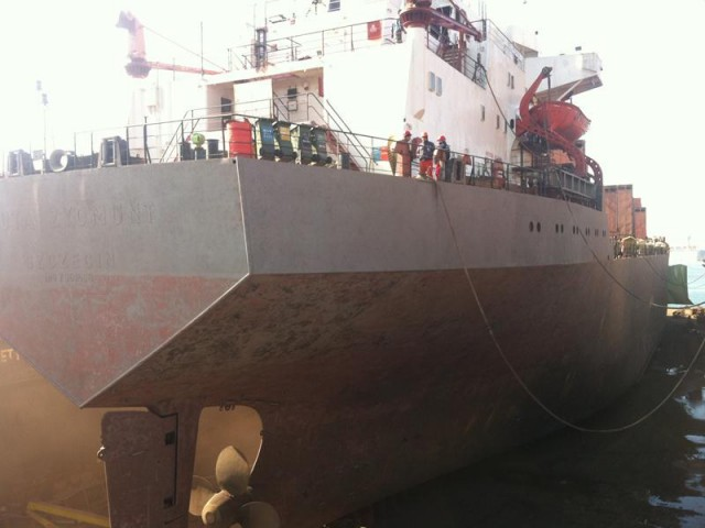 Drydocking and Repairs of 14000 DWT Bulk Carrier in Turkey